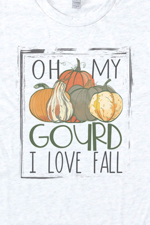 Oh My Gourd I Love Fall Tri-Blend Crew Tee