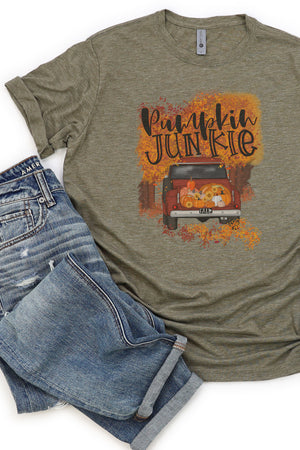 Truck Pumpkin Junkie Poly/Cotton Tee