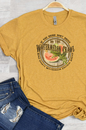 Watermelon Crawl Poly/Cotton Tee