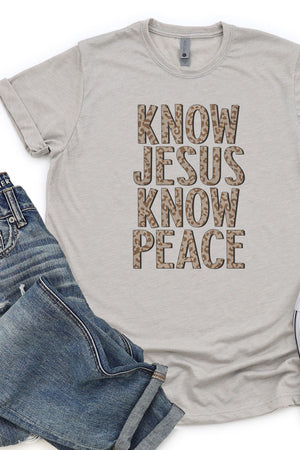 Know Jesus Know Peace Poly/Cotton Tee