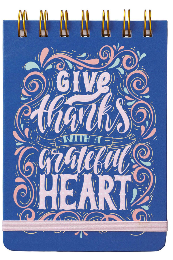 Give Thanks With A Grateful Heart Wirebound Notepad