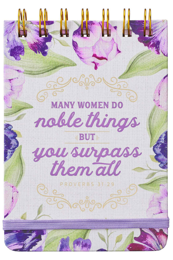 Proverbs 31:29 'Noble Things' Wirebound Notepad