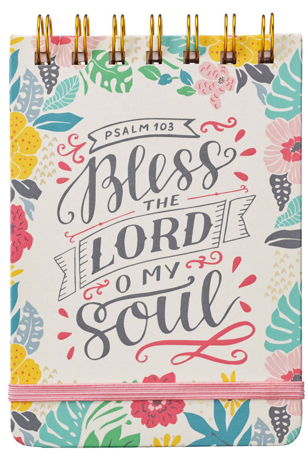Psalm 103 'Bless the Lord Oh My Soul' Wirebound Notepad