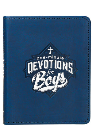 One-Minute Devotions For Boys LuxLeather Book by Jayce O'Neal
