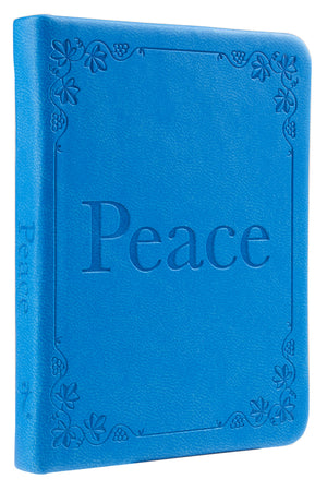 Blue LuxLeather 'Peace' Pocket Inspirations