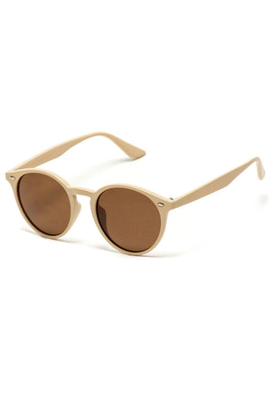 Cream Round Sunglasses