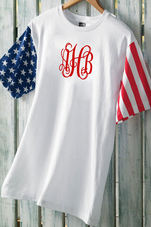 Code V Adult Stars & Stripes Tee #S218CV *Personalize It