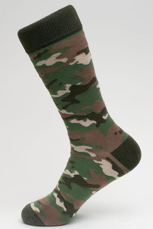 One Pair Large Camo Socks