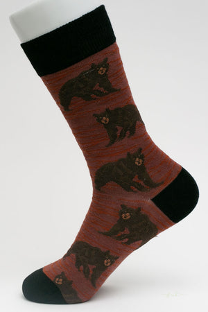 One Pair Large Lodge Bear Socks