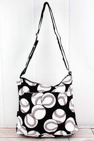 Baseball Multi-Pocket Crossbody Tote
