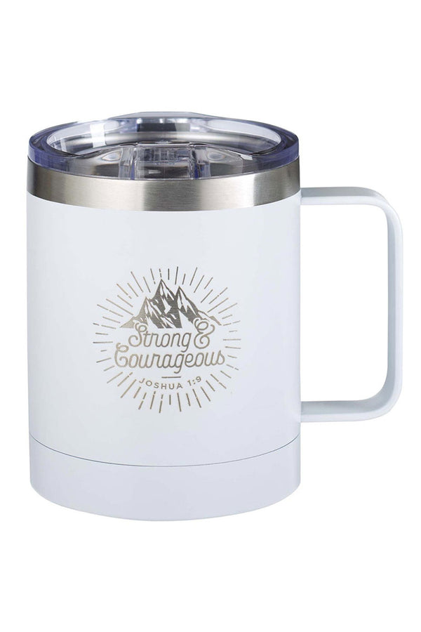 Strong & Courageous Stainless Steel Travel Campfire Mug