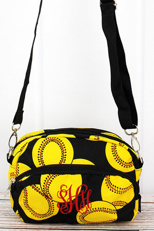 Softball Travel Crossbody Bag