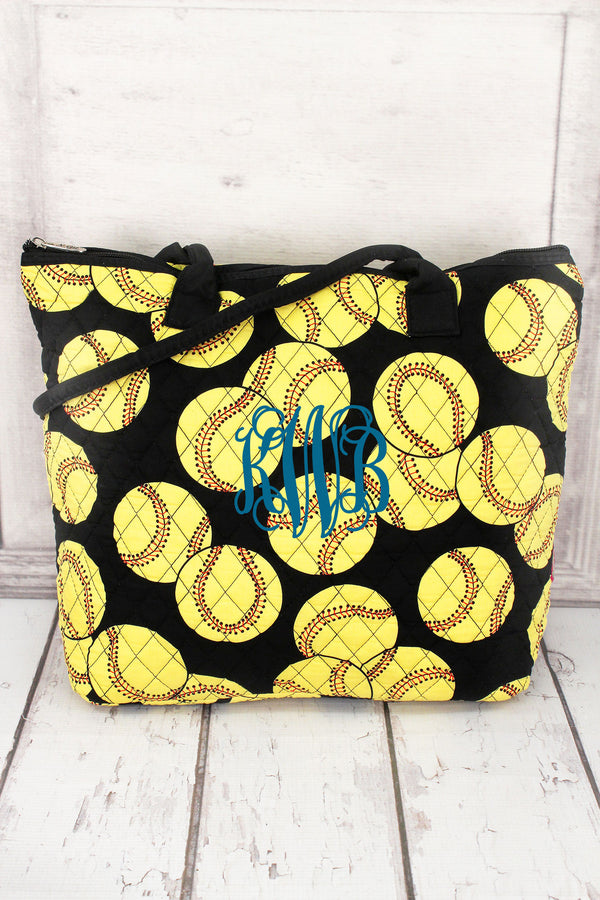 *Quilted Softball Shoulder Bag