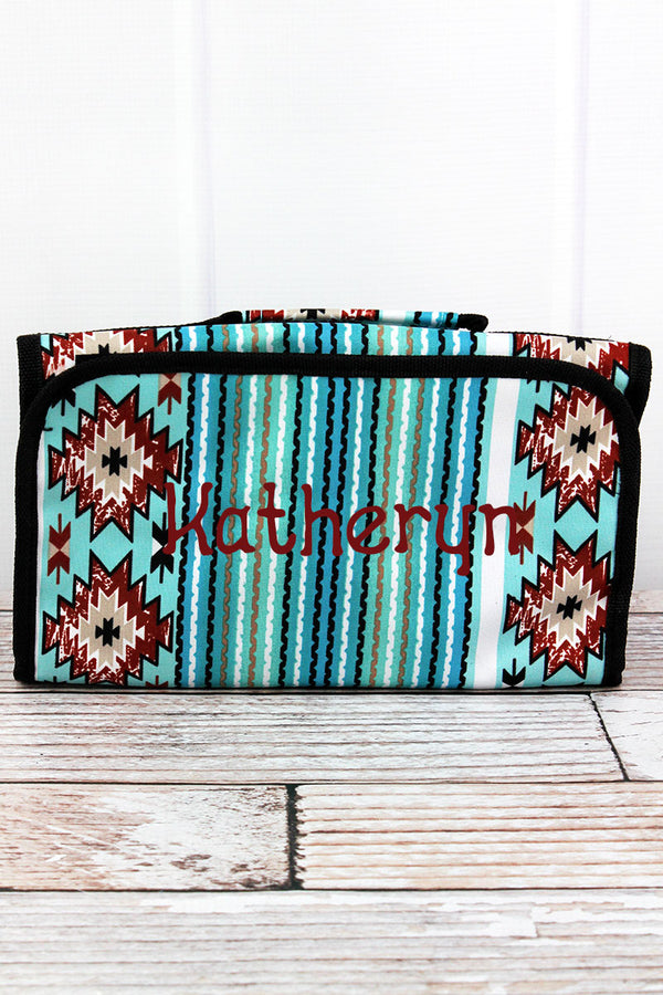 Adobe Sky Roll Up Cosmetic Bag