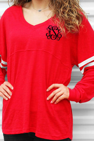 Varsitee Slub Tee, Red #T17 *Customizable!