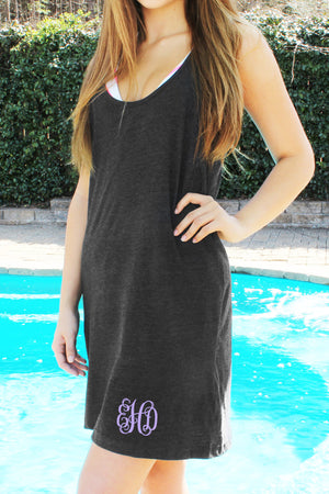 Boxercraft Charcoal Tank Dress/Cover Up *Personalize It