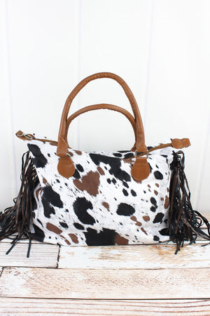 On The Moove Cow Tassel Tote