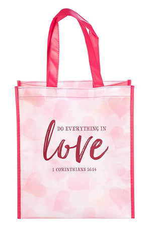 1 Corinthians 16:14 'Do Everything In Love' Tote Bag