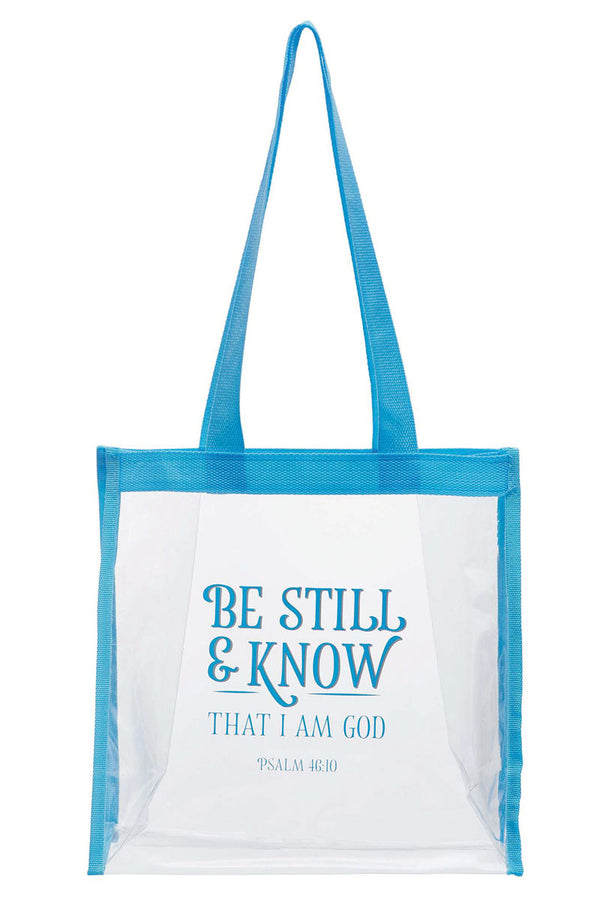 Be Still & Know Clear Tote Bag