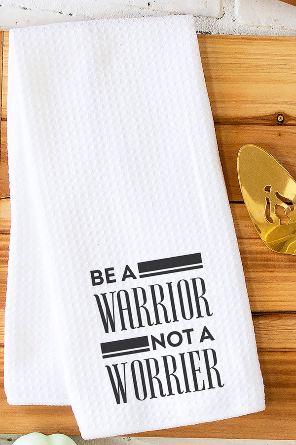 Be A Warrior Waffle Kitchen Towel