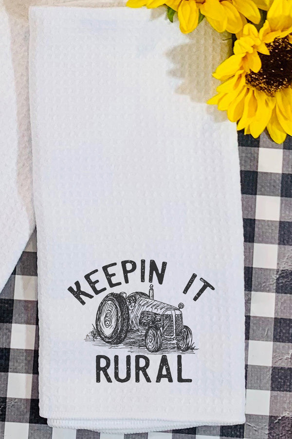 Keeping It Rural Waffle Kitchen Towel