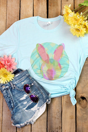 Watercolor Bunny Tri-Blend Short Sleeve Tee