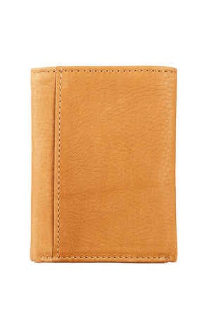Isaiah 40:31 Tan Genuine Leather Tri-Fold Wallet