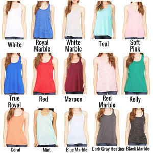 Bella+Canvas Women's Flowy Racerback Tank #8800 *Personalize It