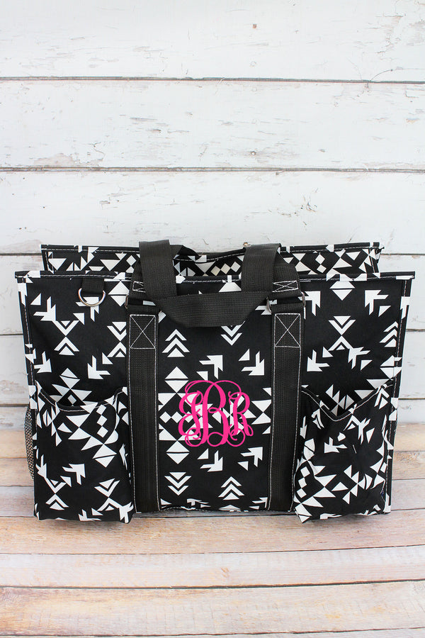 Desert Nights with Black Trim Large Organizer Tote