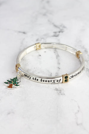 Beauty of Christmas Bangle with Christmas Tree Charm