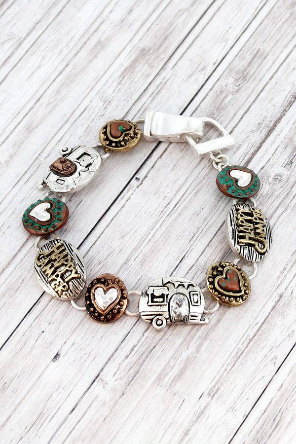 Multi-Tone Happy Camper Magnetic Bracelet