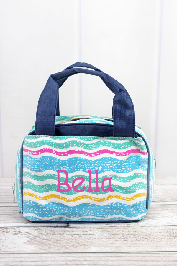 Fruit Stripes Insulated Bowler Style Lunch Bag
