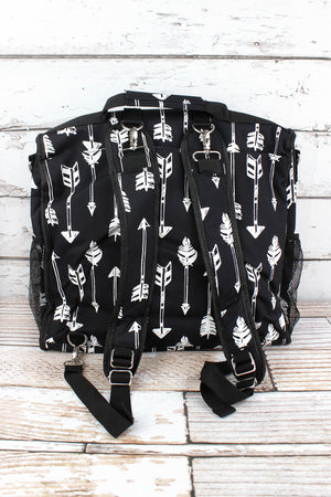 Straight & Arrow Black Diaper Backpack