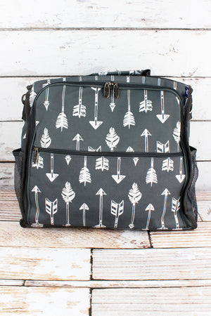 Straight & Arrow Gray Diaper Backpack