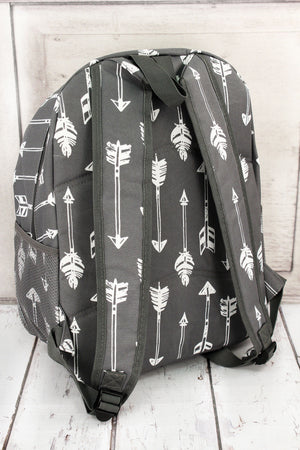 Straight & Arrow Gray Large Backpack