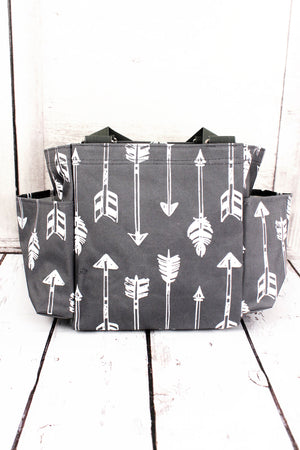 Straight & Arrow Gray Organizer Tote