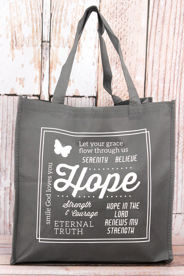 Messages of Hope Gray Tote Bag