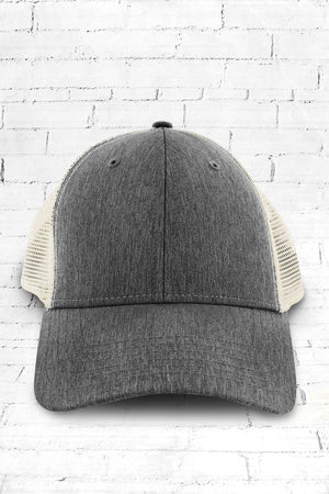 Sport Trucker Cap, Black and Tan