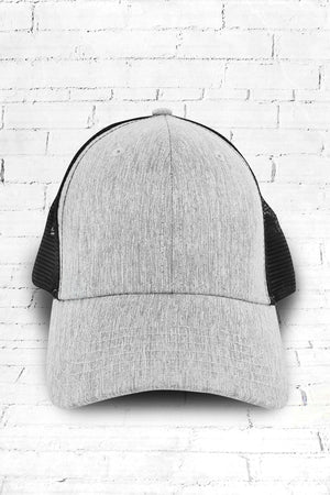 Sport Trucker Cap, Light Gray and Black