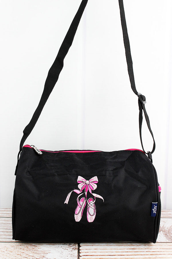 Black Ballerina Slippers Mini Duffle Bag