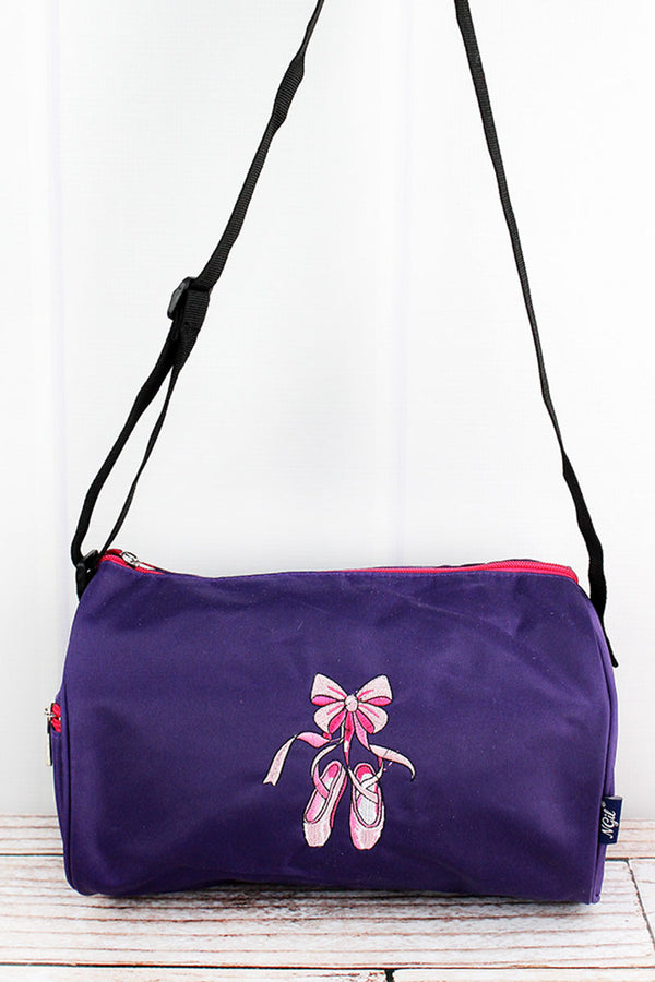 Purple Ballerina Slippers Mini Duffle Bag