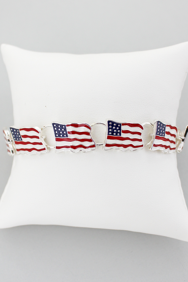 USA Flag Magnetic Bracelet