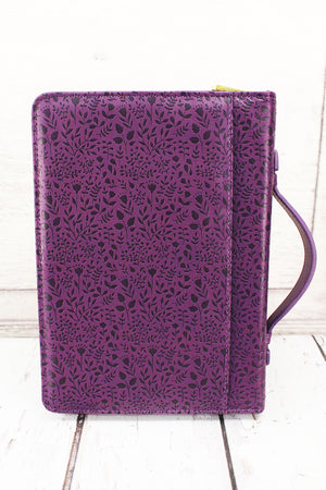 Purple Phil 4:13 LuxLeather Large Bible Cover