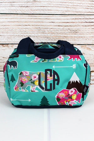 Bear Beauty Insulated Bowler Style Lunch Bag