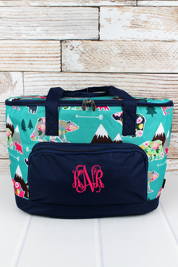Bear Beauty and Navy Cooler Tote with Lid