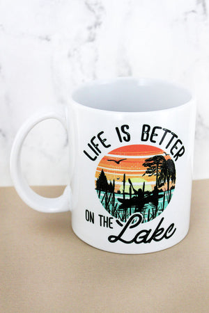 Life Is Better On The Lake White Mug