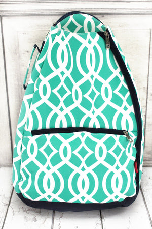 Mint Trellis Tennis Backpack
