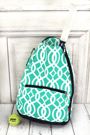 Mint Trellis Tennis Backpack #BIQ734-MINT