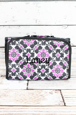 Serenity Garden Roll Up Cosmetic Bag