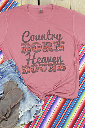 Southwestern Country Born Poly/Cotton Tee
